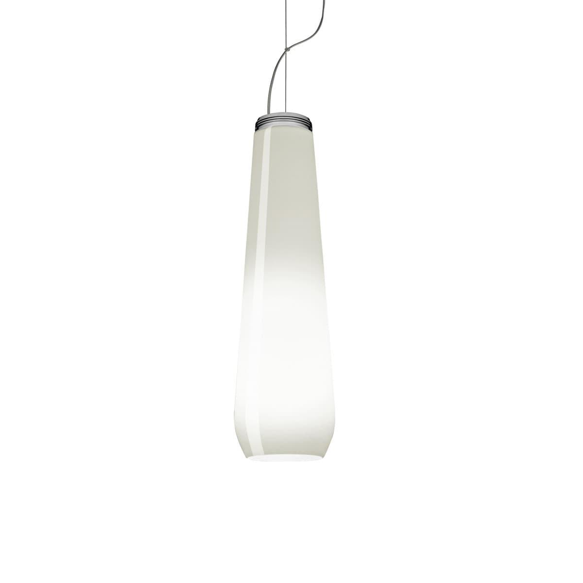 foscarini diesel glass drop hanglamp wit