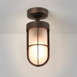 Astro - Cabin Frosted Semi-Flush plafondlamp Brons