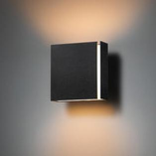 Modular - Split Small LED wandlamp Zwart / Wit (int)
