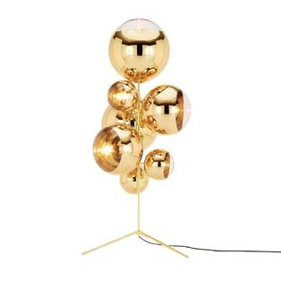 Tom Dixon - Mirror Ball Stand Chandelier vloerlamp Goud