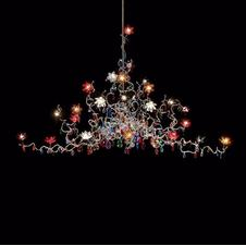 harco loor jewel chandelier oval hanglamp halo