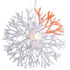 Pallucco - Coral 600 Hanglamp Mat Wit / Wit / Oranje Fluo