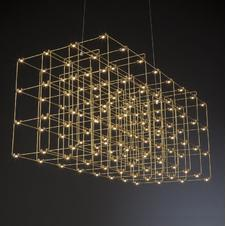 Quasar - Cosmos Square Double LED hanglamp Messing